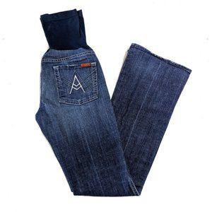 7FAMK Maternity Bootcut Jeans 28